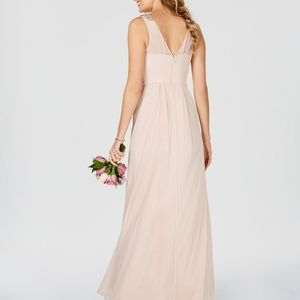 Adrianna Papell Dresses Ruched Embellished Gown Blush Poshmark